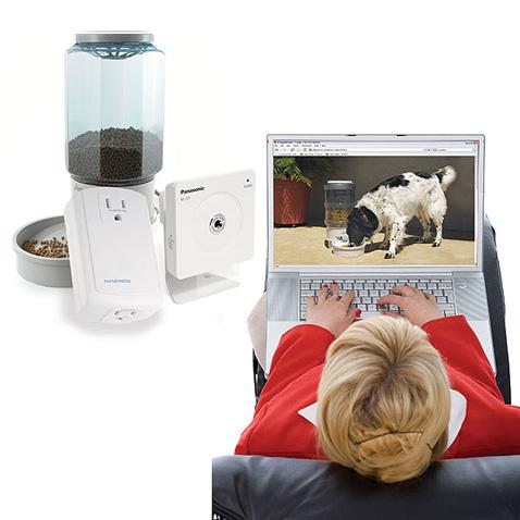 Remote pet feeder